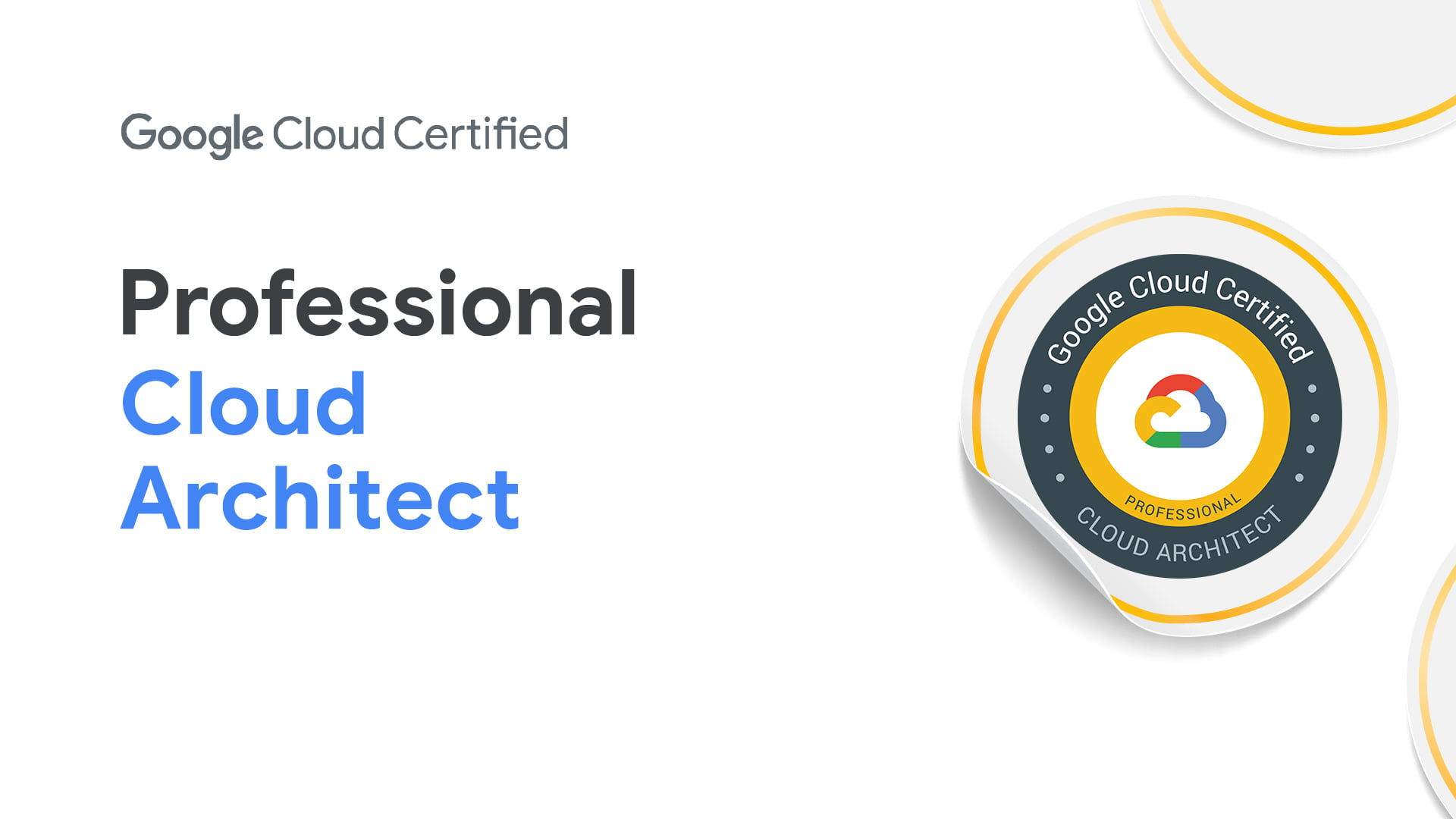 [GCP] Google Cloud Certified:Professional Cloud Architect